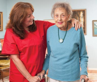 BAYADA client Mary Lou with her nurse Peggy
